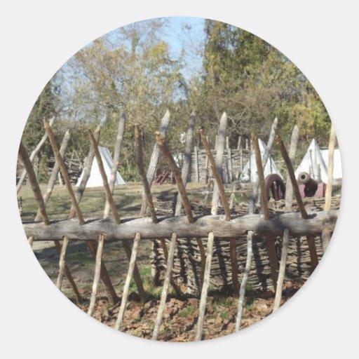 Sitio para acampar colonial de Williamsburg Etiqueta Redonda