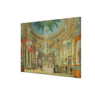 Sitio que banquetea, de 'vistas del pabellón real lona envuelta para galerias