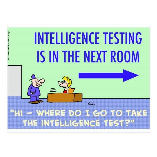 sitio siguiente de prueba de la inteligencia tarjeta postal