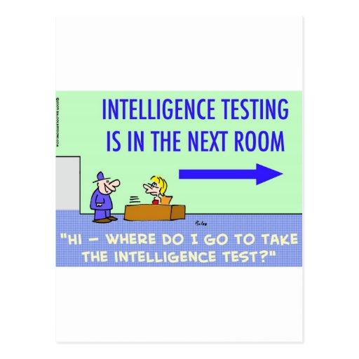 sitio siguiente de prueba de la inteligencia postal