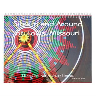 Sitios en y alrededor de St. Louis, Missouri 2010 Calendario De Pared