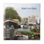 Sitios turísticos de Amsterdam Azulejo Cerámica