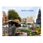 Sitios turísticos de Amsterdam Postal