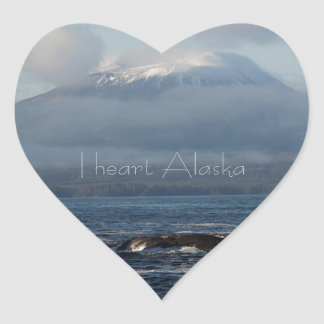Sitka Alaska Souvenir Gifts Heart Sticker