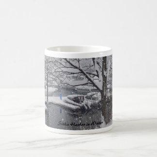 Sitka Harbor in Winter Classic White Coffee Mug