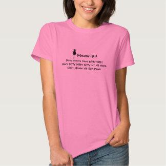 Sits and Stares: A Meow-ku T-shirt