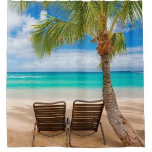 Sittin Easy Tropical Beach Shower Curtain