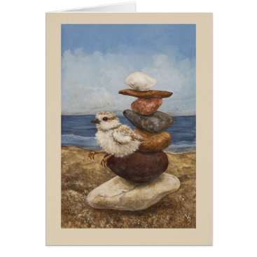 Beach Themed Sittin' on the Rocks of the Bay card