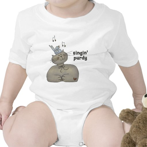 Sittin' Purdy Adorable Cat Lover Tees, Gifts