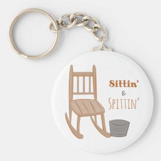 Sittin' & Spittin' Key Chain
