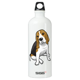 Sitting Beagle Aluminum Water Bottle