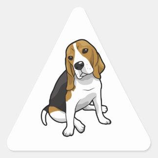 Sitting Beagle Triangle Sticker