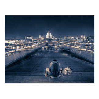 Sitting before St Paul s Cathedral London Postcard