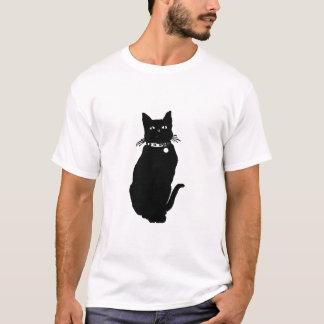 Sitting Black Cat art T-Shirt