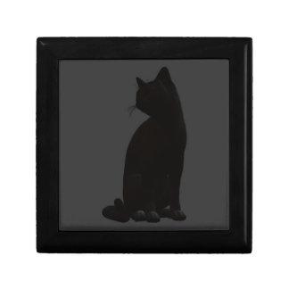 Sitting Black Cat Gift Box