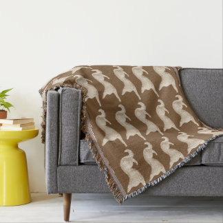 Sitting Borzoi Throw Blanket