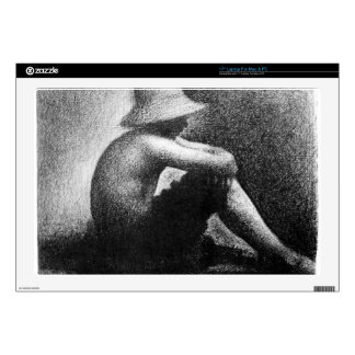 """Sitting boy in straw hat by Georges Seurat Decal For 17"""" Laptop"""
