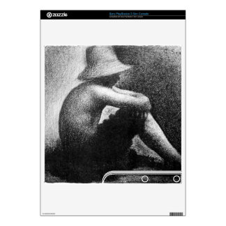 Sitting boy in straw hat by Georges Seurat Skins For The PS3 Slim