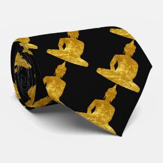 Sitting Buddha in Gold Neck Tie