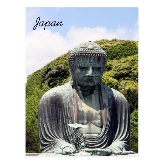 sitting buddha kamakura postcard