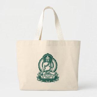 SITTING BUDDHA MEDITATING PEACE JUMBO TOTE BAG
