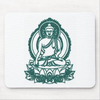SITTING BUDDHA MEDITATING PEACE MOUSE PAD