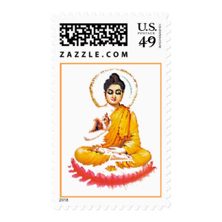 SITTING BUDDHA MEDITATING PEACE POSTAGE
