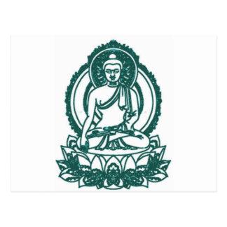 SITTING BUDDHA MEDITATING PEACE POSTCARD