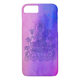 Sitting Buddha on Lotus iPhone 8/7 Case