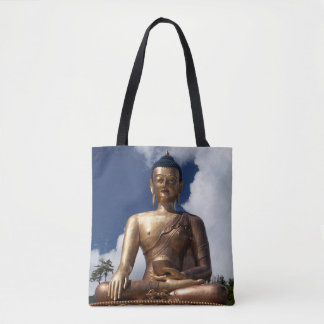 Sitting Buddha Statue Tote Bag