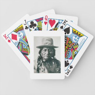 Sitting Bull (1831-1890) (b/w photo) Bicycle Playing Cards