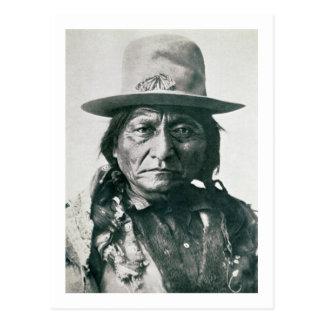 Sitting Bull (1831-1890) (b/w photo) Postcard