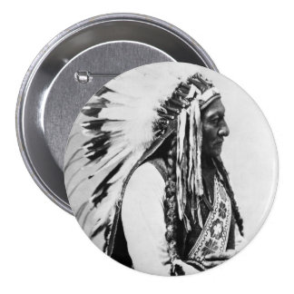 Sitting Bull, a Hunkpapa Sioux 3 Inch Round Button