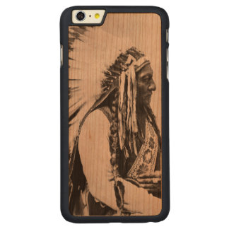 Sitting Bull, a Hunkpapa Sioux Carved Cherry iPhone 6 Plus Case