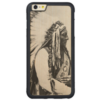 Sitting Bull, a Hunkpapa Sioux Carved Maple iPhone 6 Plus Bumper Case