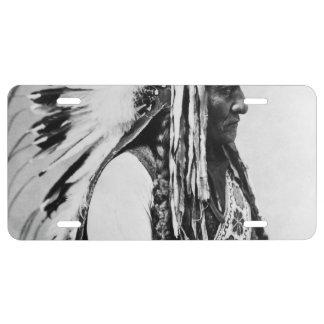 Sitting Bull, a Hunkpapa Sioux License Plate