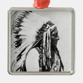 Sitting Bull, a Hunkpapa Sioux Square Metal Christmas Ornament
