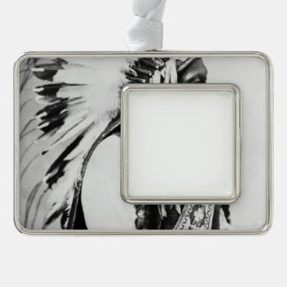 Sitting Bull, a Hunkpapa Sioux Silver Plated Framed Ornament