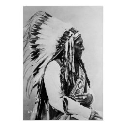 Sitting Bull, a Hunkpapa Sioux Poster