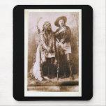 Sitting Bull and Buffalo Bill 1895 Mousepads