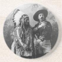 Sitting Bull and Buffalo Bill Portrait from 1885 Coaster