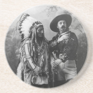 Sitting Bull and Buffalo Bill Portrait from 1885 Coaster
