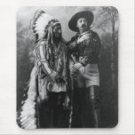 Sitting Bull and Buffalo Bill Portrait from 1885 Mouse Pad
