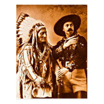 Sitting Bull and Buffalo Wild West Show 1885 Postcard