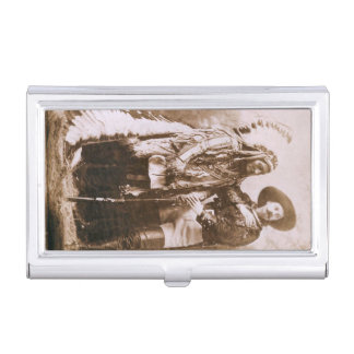 Sitting Bull and William F. Cody Vintage Case For Business Cards