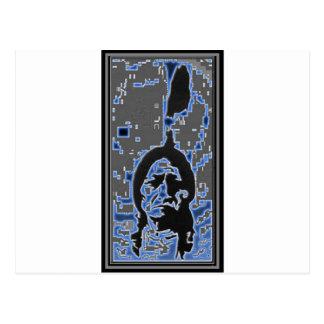 Sitting Bull Blue Postcard