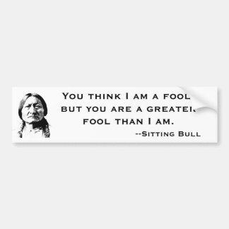 Sitting Bull Bumper Sticker