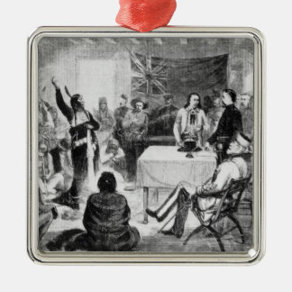 Sitting Bull Council, 1877 Metal Ornament