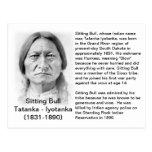 Sitting Bull FACT CARD Post Card
