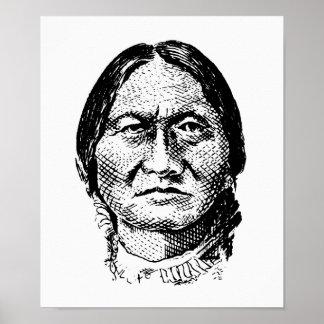 Sitting Bull Graphic Poster